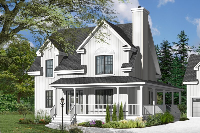 Dream House Plan - Country Exterior - Front Elevation Plan #23-2502