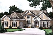 European Style House Plan - 3 Beds 2 Baths 1429 Sq/Ft Plan #927-23 Exterior - Front Elevation
