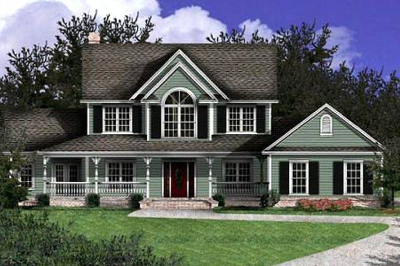 Country Exterior - Other Elevation Plan #11-206 - Houseplans.com
