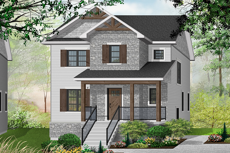Craftsman Exterior - Front Elevation Plan #23-2643