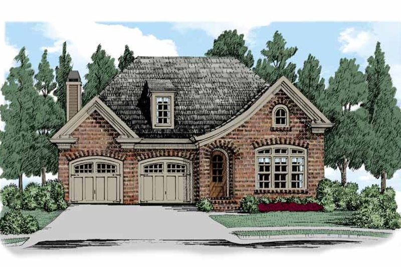 European Exterior - Front Elevation Plan #927-513