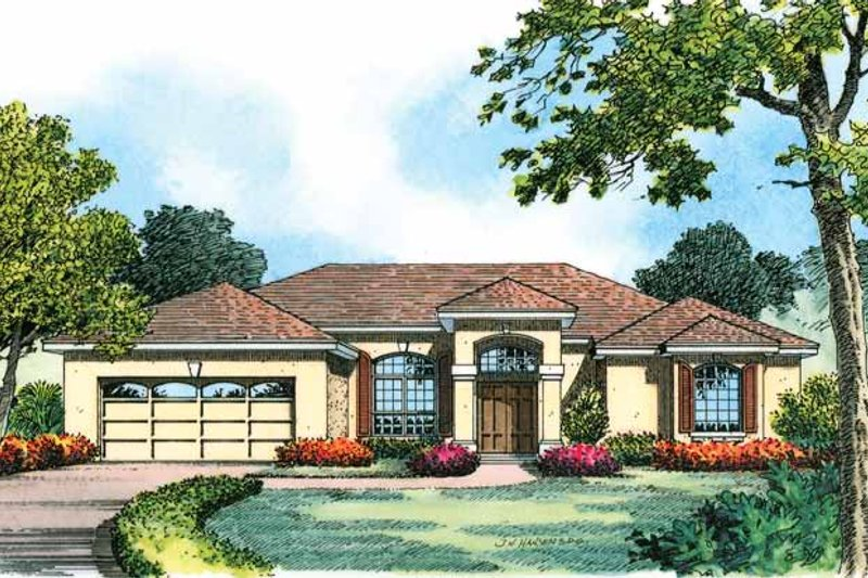 Contemporary Exterior - Front Elevation Plan #1015-7