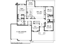 Ranch Floor Plan - Main Floor Plan Plan #70-1032