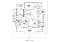 Colonial Floor Plan - Main Floor Plan Plan #1054-29