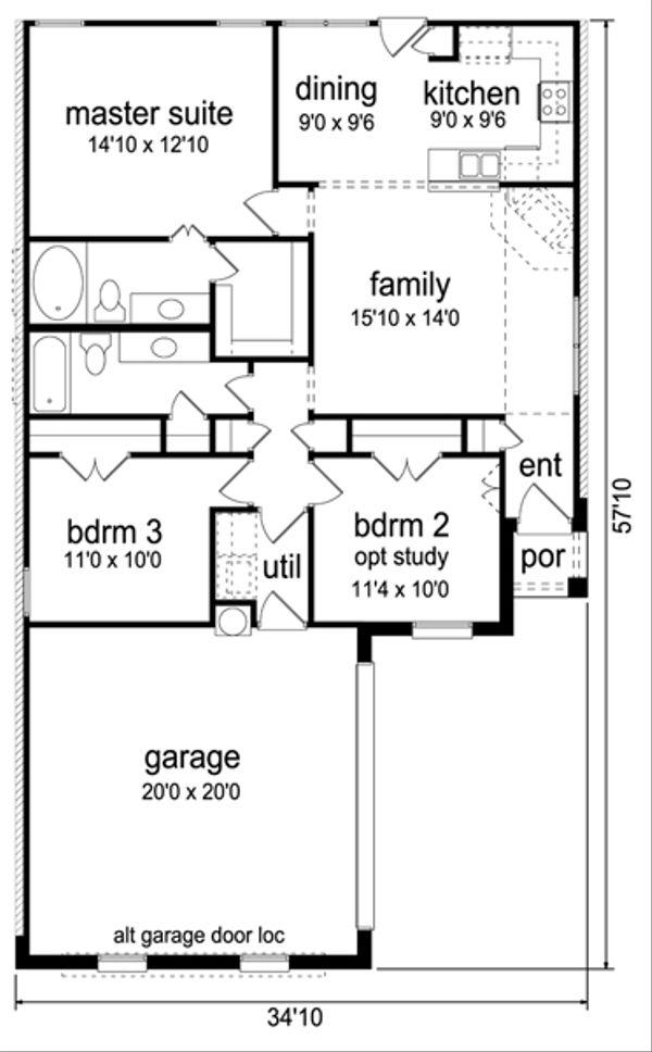 Traditional Floor Plan - Main Floor Plan Plan #84-540