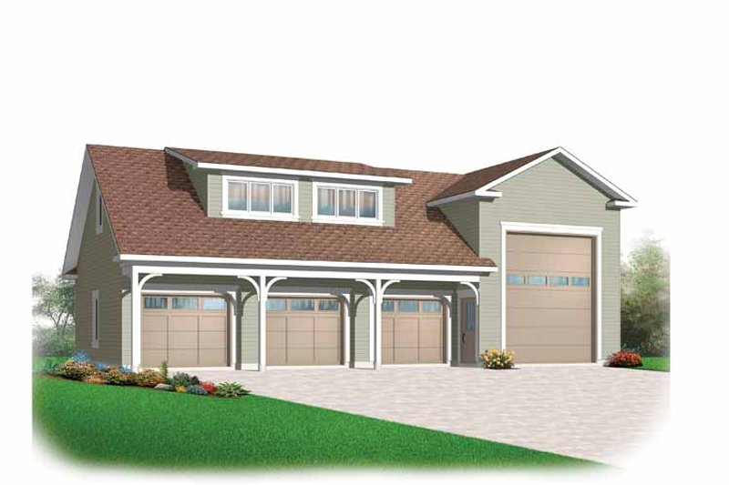 Country Exterior - Front Elevation Plan #23-2427