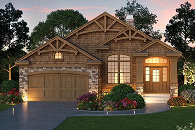 Craftsman Exterior - Front Elevation Plan #417-826 - Houseplans.com