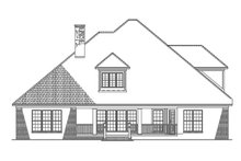 Home Plan - Traditional Exterior - Rear Elevation Plan #17-2802