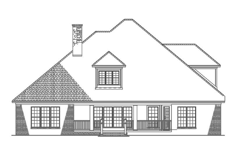 Traditional Exterior - Rear Elevation Plan #17-2802 - Houseplans.com