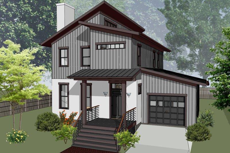House Plan Design - Modern Exterior - Front Elevation Plan #79-328