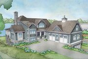 Cottage Style House Plan - 3 Beds 3 Baths 3787 Sq/Ft Plan #928-319 Exterior - Front Elevation