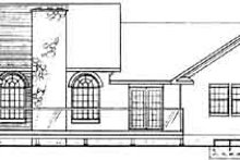 House Plan Design - Traditional Exterior - Rear Elevation Plan #126-127