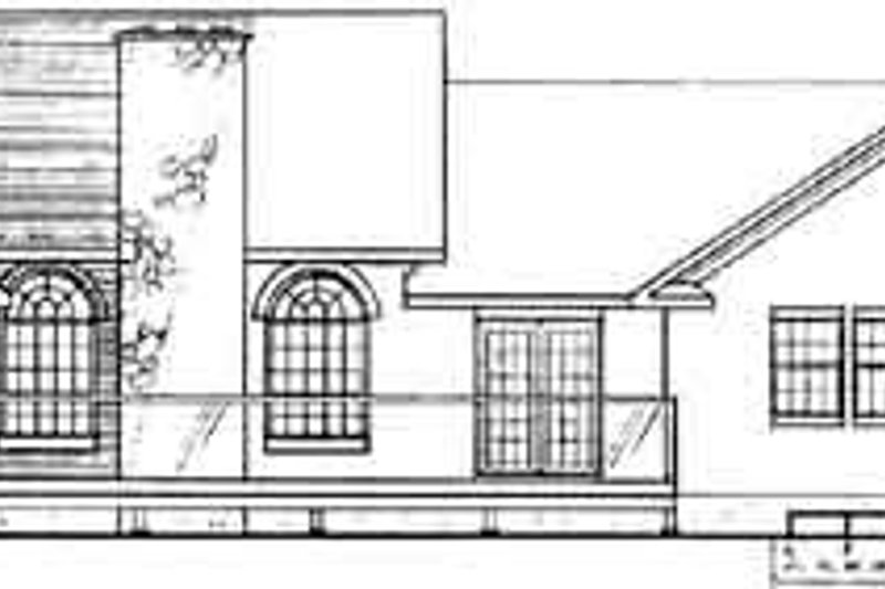 Traditional Exterior - Rear Elevation Plan #126-127 - Houseplans.com