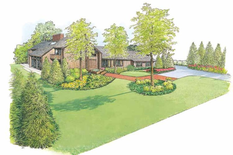 Exterior - Front Elevation Plan #1040-31 - Houseplans.com