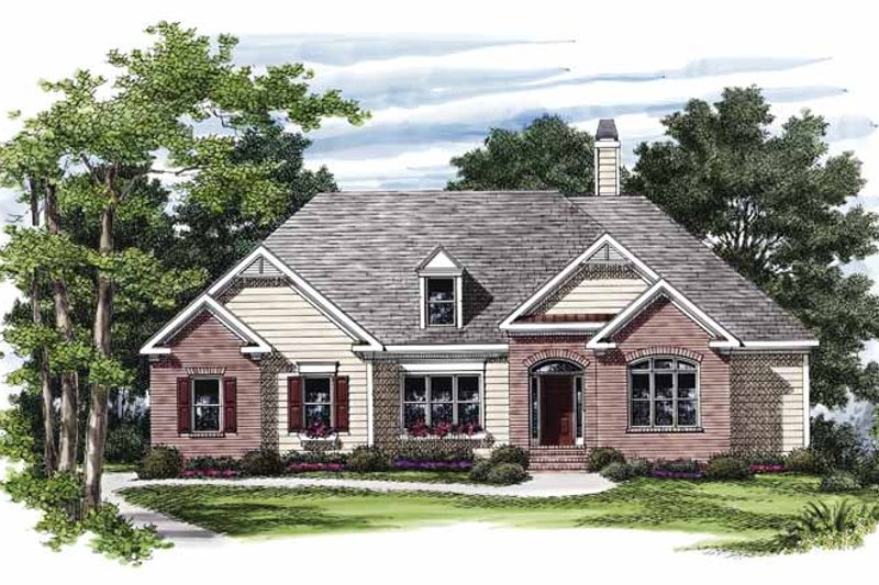 Ranch Exterior - Front Elevation Plan #927-823