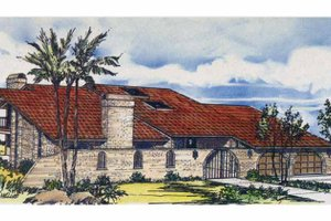 Mediterranean Exterior - Front Elevation Plan #320-1287