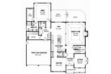 Colonial Floor Plan - Main Floor Plan Plan #316-273
