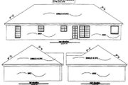 Traditional Style House Plan - 4 Beds 2 Baths 1637 Sq/Ft Plan #69-182