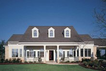 Country Exterior - Front Elevation Plan #320-918
