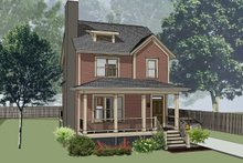 Country Exterior - Front Elevation Plan #79-173