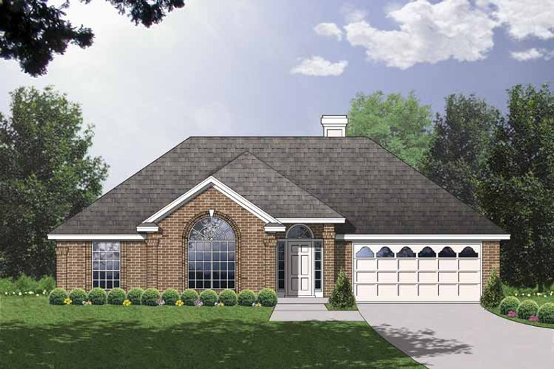 Traditional Exterior - Front Elevation Plan #40-496 - Houseplans.com