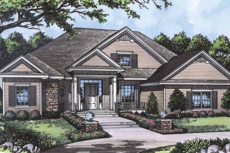 Dream House Plan - Mediterranean Exterior - Front Elevation Plan #417-644