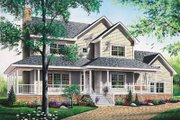Country Style House Plan - 3 Beds 2.5 Baths 2129 Sq/Ft Plan #23-2061 Exterior - Front Elevation