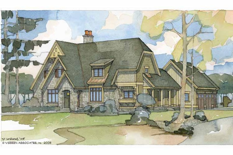 European Exterior - Front Elevation Plan #928-42 - Houseplans.com