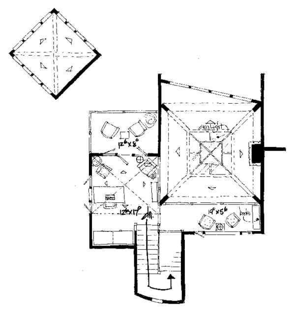 Craftsman Floor Plan - Upper Floor Plan Plan #942-11