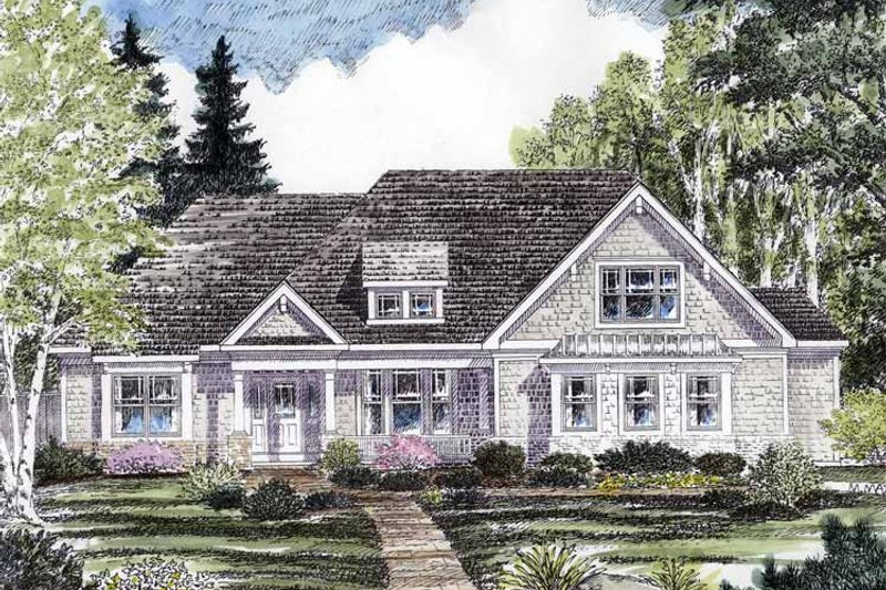 Craftsman Exterior - Front Elevation Plan #316-271 - Houseplans.com