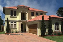 Mediterranean Exterior - Front Elevation Plan #930-434