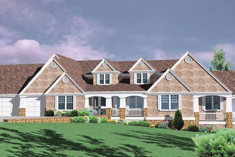 Traditional Exterior - Front Elevation Plan #509-401 - Houseplans.com