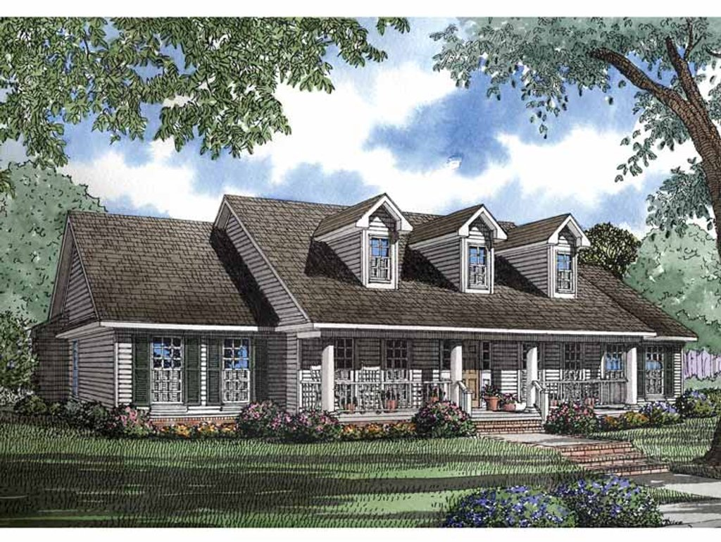 Classical style house plan 4 beds 2 5 baths 2388 sq ft for Georgian farmhouse plans