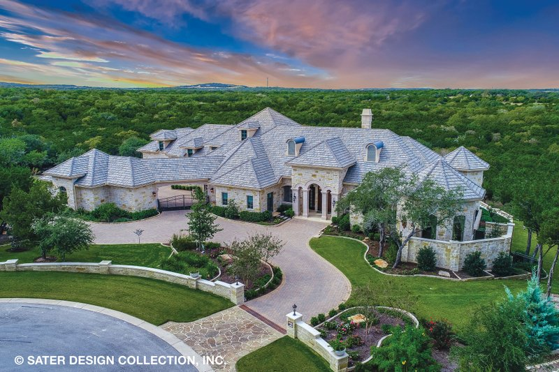 European Style House Plan - 4 Beds 5.5 Baths 6594 Sq/Ft Plan #930-516 Exterior - Front Elevation