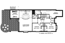 Craftsman Floor Plan - Lower Floor Plan Plan #928-282