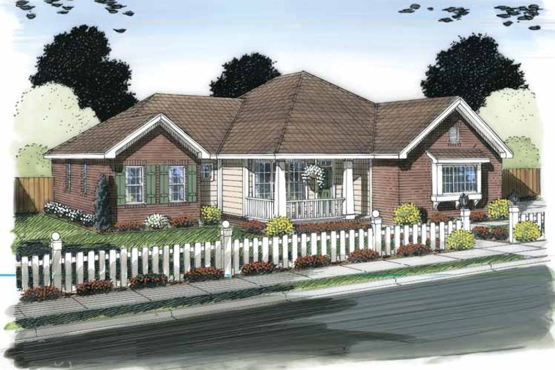 Traditional Exterior - Front Elevation Plan #513-2150