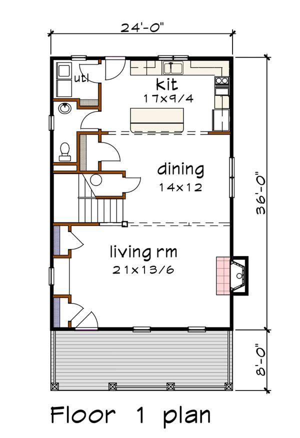 House Plan Design - Craftsman Floor Plan - Main Floor Plan #79-305