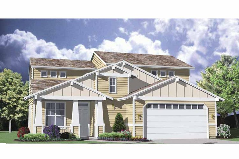 Craftsman Exterior - Front Elevation Plan #509-170 - Houseplans.com