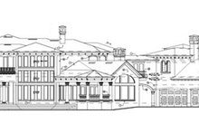European Exterior - Rear Elevation Plan #417-798