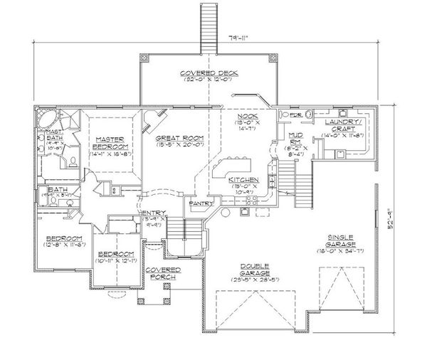 European Floor Plan - Main Floor Plan Plan #5-388