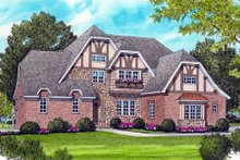 Home Plan - Tudor Exterior - Front Elevation Plan #413-816
