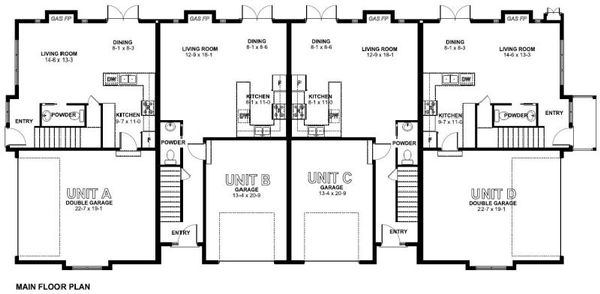 Traditional Floor Plan - Main Floor Plan Plan #126-165