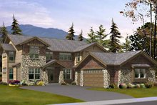 Architectural House Design - Craftsman Exterior - Front Elevation Plan #132-442