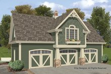 Architectural House Design - Craftsman Exterior - Front Elevation Plan #56-675