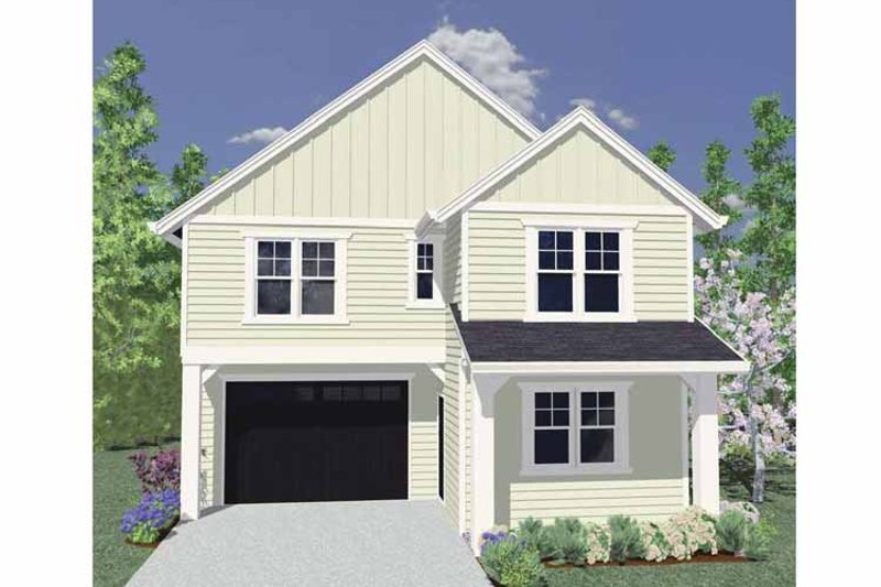 Traditional Exterior - Front Elevation Plan #509-176 - Houseplans.com