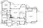 Mediterranean Style House Plan - 4 Beds 2 Baths 2014 Sq/Ft Plan #80-142 Floor Plan - Main Floor