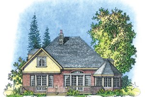 Home Plan - Country Exterior - Rear Elevation Plan #1016-104