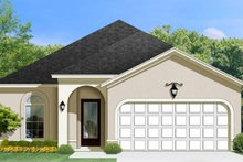 House Plan Design - Mediterranean Exterior - Front Elevation Plan #1058-93