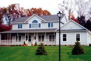 Country Style House Plan - 4 Beds 3 Baths 2647 Sq/Ft Plan #312-576 Exterior - Front Elevation