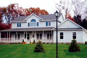 Country Exterior - Front Elevation Plan #312-576